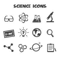 wetenschap pictogrammen symbool