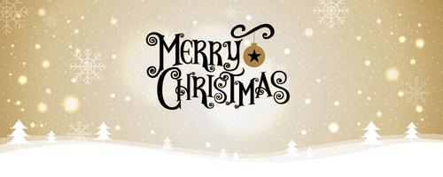 Merry Christmas belettering ontwerp met sterren en sparkles