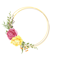 aquarel stijl roze bloem frame vector