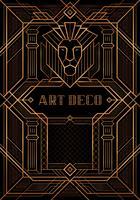 De Great Gatsby Deco-stijl vector