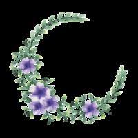 bloem frame met aquarel stijl vector