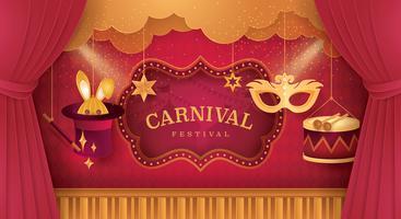 Premium gordijnen podium met Circus Scene