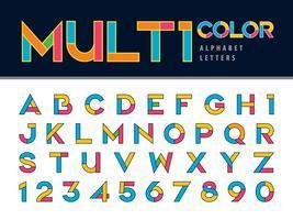 Multicolor transparantie lettertype