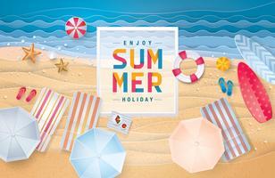 Geniet van de zomerkaart vector