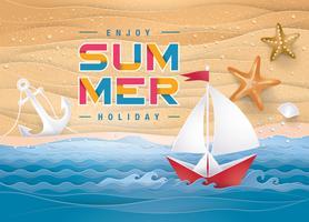 Beste zomervakantie strandkaart vector