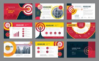 Abstracte presentatiesjablonen ontwerpset
