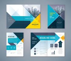 Cover boek ontwerpset, abstracte pijl achtergrond sjabloon brochures vector