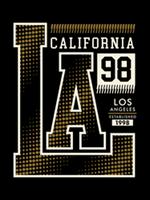 LA, Californië, typografieontwerp, vectorillustratie