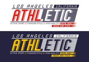 Typografie Athletic Los Angeles voor t-shirt print, vectoren