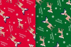 Merry Christmas Deer patroon Set vector