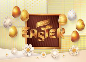 Happy Easter wenskaart vector