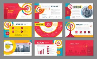 Abstracte presentatiesjablonen ontwerpset vector