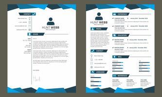CV CV Cover sjabloon Vector