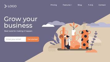 Aardewerk kunst ambachtelijke online business landingspagina sjabloonontwerp vector