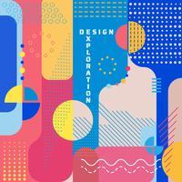 Exploratie ontwerp abstracte kunst moderne stijl kleurrijke banner vector