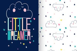 Little Dreamer patroon ingesteld vector