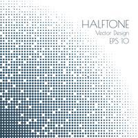 Halftone puntjes poster