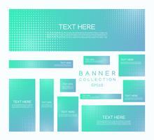 Moderne banners minimale halftone stijl kleurrijke gradiënt