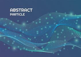 Deeltje abstracte achtergrond lijn stroom complex ontwerp met lichte glans vector