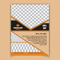 Creatieve koffie poster ontwerpsjabloon vector