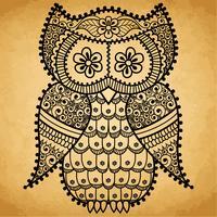 Uil Mandala patroon vector
