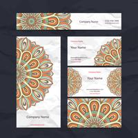 Oranje Mandala briefpapier Set vector