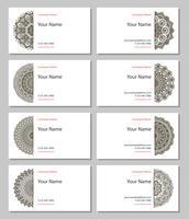 Set henna visitekaartjes vector