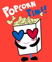 Popcorn-tijd vector