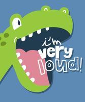Ik ben een zeer luide dinosaurus vector
