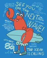 Tot ziens op de volgende Wave Lobster vector