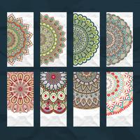 Mandala visitekaartje set vector