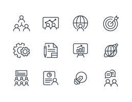 Zakelijke icoon collectie in lijn