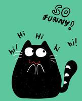 Zo grappige kat vector