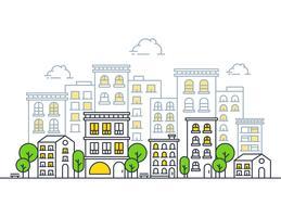 Moderne illustratie van de stad