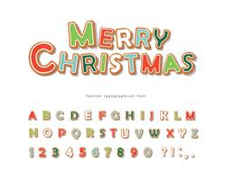 Christmas Gingerbread Cookie-lettertype vector