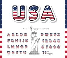 USA cartoon lettertype
