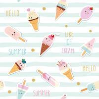 Achtergrond van het de zomer de gestreepte naadloze patroon