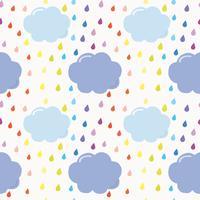 Cloud naadloze patroon achtergrond vector