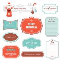 Kerstmis en gelukkig Nieuwjaar frames en banners.