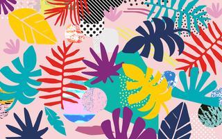 Tropische junglebladeren vector
