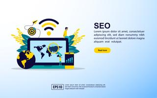 SEO Informatieve webpagina vector