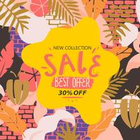 Nieuwe collectie Sale website banner vector