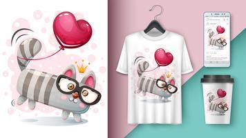 Kat en ballon - model voor uw idee