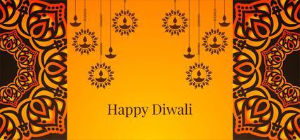 Hangende diya Happy Diwali-ontwerp
