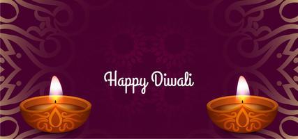 Gelukkige Diwali decoratieve feestelijke kaart