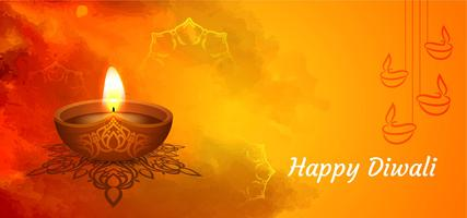 Indiase festival Happy Diwali groet banner