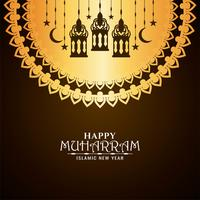 hangende lantaarns Gelukkig Muharran-ontwerp