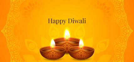 Gelukkig Diwali-helder festivalontwerp