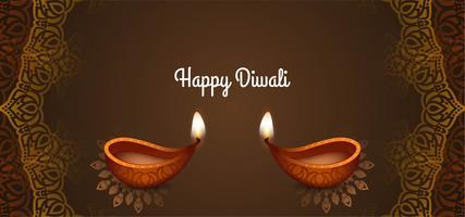 stijlvol decoratief Happy Diwali-ontwerp