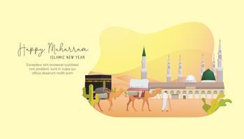 Gelukkig islamitische Nieuwjaarsgroet